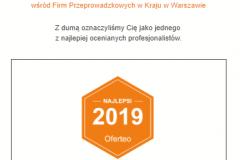 certyfikat oferteo 2019